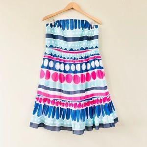 NWT Vineyard Vines Strapless Dress Carolina Stripe